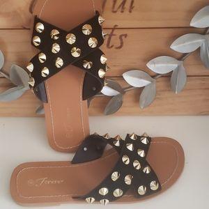 Funky black sandles